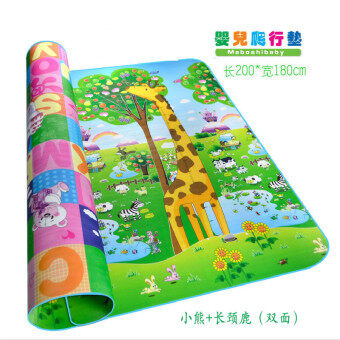 Harga Baby Puzzle Play Mats 180X200CM Eva Foam Kids Toys For Newborns Kids Rugs Puzzle Mat (Giraffe + bear pattern)