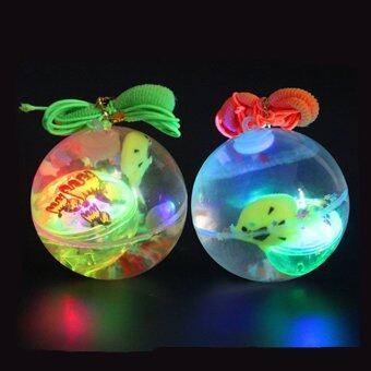 ลูกเด้งยางอ่อนแสง Led กระโดดกระเด้งลูกบอลเล่นลูกพรรคไทยธรรม-