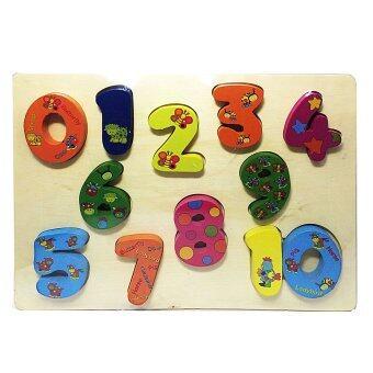 ของเล่นไม้เสริมพัฒนาการสำหรับเด็ก จิ๊กซอว์ชุดเลขคณิตนับให้เป็น Wood Toy Jigsaw Number and Count
