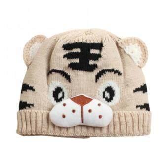 Baby Touch หมวกเด็ก ผ้านิ่ม เสือน้อย (ขาว)