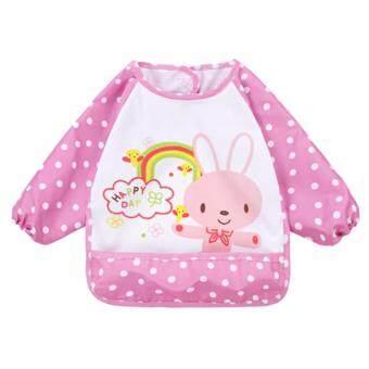 Baby Touch ผ้ากันเปื้อนเด็ก กันน้ำ แขนยาว กระต่าย (ชมพู)