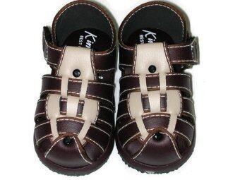 Kimba รองเท้าเด็กชายแบบสาน3เส้น - Brown