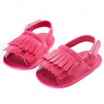 ทารกแรกเกิดถึง 18เดือนบนพื้นรองเท้านุ่มลื่นดอกกุหลาบเด็กสาวร้อนรักพวกรองเท้าแตะรองเท้าฝ้าย S1492 - Intl