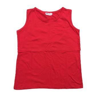 HPTJ เสื้อเปิดให้นม แขนกุด แดง