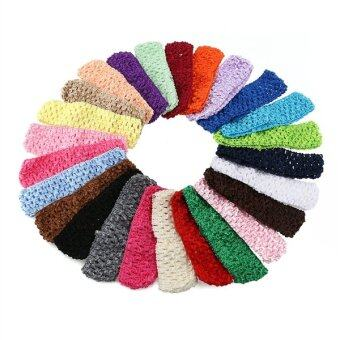 Harga TINKSKY 50pcs Baby Girls Toddler Elastic Crochet Hairbands Headbands Hair Bands in 25 Different Colors