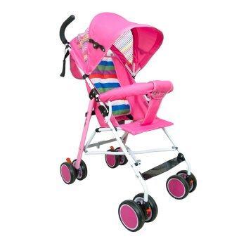 HHsociety รถเข็นเด็กพับได้ Baby Stroller รุ่น S-311 (สีชมพู/รุ้ง) (image 0)