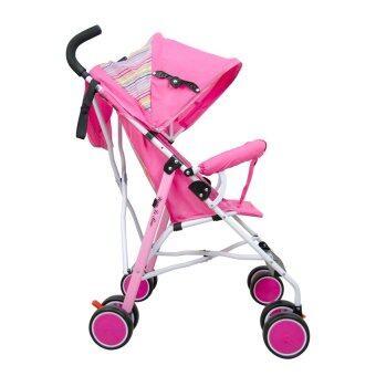 HHsociety รถเข็นเด็กพับได้ Baby Stroller รุ่น S-311 (สีชมพู/รุ้ง) (image 1)