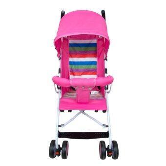 HHsociety รถเข็นเด็กพับได้ Baby Stroller รุ่น S-311 (สีชมพู/รุ้ง) (image 2)