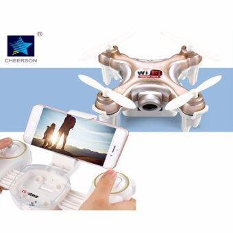 Astro Cheerson โดรนจิ๋ว CX10WD -TX Nano FPV Drone Camera 720P Wi-Fi รุ่นมีรีโมท - สีทอง