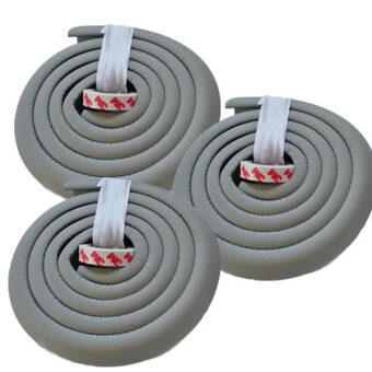 โฟมยางกันกระแทกสำหรับเด็ก ความยาว 2 เมตร Soft Edge Cushion Strip (สีเทา) ชุดเช็ต 3 ม้วน