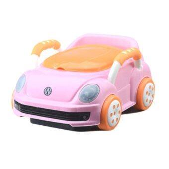 กระโถนนั่งเด็ก รถสีชมพู