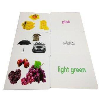 Flash Card บัตรคำศัพท์ประกอบภาพ เรื่องสีและรูปร่าง