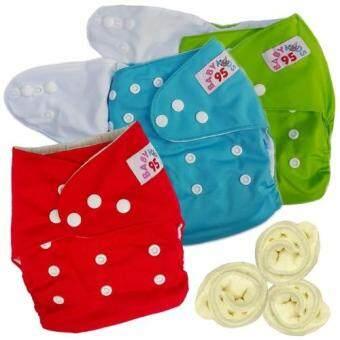 กางเกงผ้าอ้อมกันน้ำ+แผ่นซับไมโครฯ Size:3-16กก. เซ็ท3ตัว (Green/Blue/ Red)