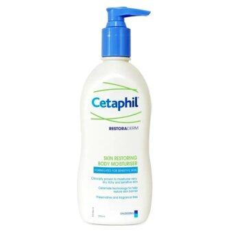 Cetaphil Restoraderm Skin Restoring Body Moisturizer 295ml 1ขวด สูตรเฉพาะพิเศษสำหรับผิวแห้ง-คัน ผิวแพ้ง่าย