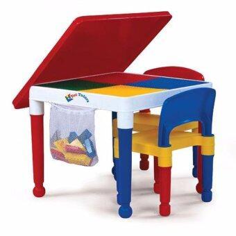 โต๊ะต่อบล็อค ตัวต่อ Lego พร้อมเก้าอี๊ 2in1 Construction Table Set