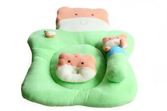 Attoon ชุดที่นอนผ้าขนหนู รูปลูกหมี - สีเขียว