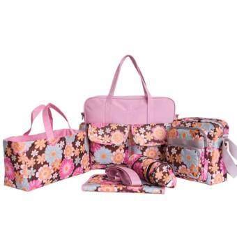 กระเป๋าสัมภาระคุณแม่ ลูกอ่อน สำหรับใส่ของให้เด็กอ่อน เซต 5 ชิ้น