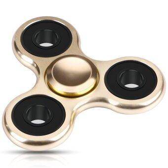 Harga Fidget Spinner Toy Ultra Durable Stainless Steel Bearing 1-5 Min Spins Precision Hand spinner EDC ADHD Focus Anxiety Stress Relief Toys(Gold Black) - intl