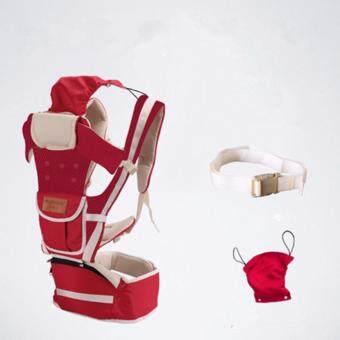สีแดง สุทธิ ระบายอากาศได้ 10 ใน 1 มัลติฟังก์ชั่ ผู้ให้บริการทารก Baby Carrier เอว เข็มขัด with เอว ม้านั่ง - intl