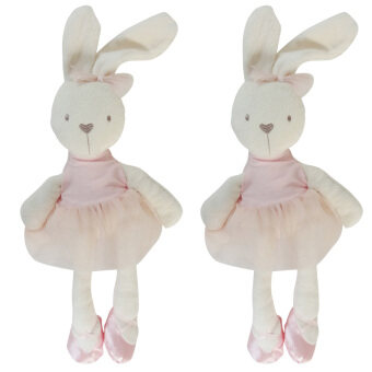 Harga 35cm Soft Baby Stuffed Doll Rabbit Toys for Newborns Pink