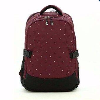 Audrey กระเป๋าเป้สะพายหลังสำหรับคุณแม่ กระเป๋าใส่ผ้าอ้อม ขวดนม ของใช้เด็ก กันน้ำ รุ่น DN083 สีเลือดหมู