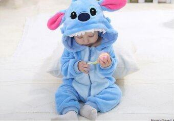 Harga IDGIRL Spring Autumn Baby Clothes Flannel Baby Boy Clothes Cartoon Animal Jumpsuit Baby Girl Rompers Baby Clothing (Lake Blue) - Intl