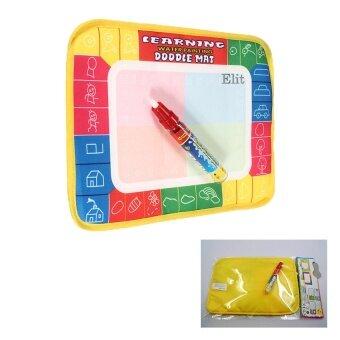 Elit กระดานวาดภาพ ระบายสีและปากกาเมจิกน้ำสำหรับเด็กทารก ขนาด 29*19 Kid Baby Painting Writing Mat Board&Magic Pen Hot