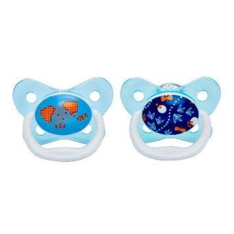 Dr.Brown'sจุกหลอกPreVent BUTTERFLY SHIELD Pacifier, Stage 2 * 6-12M - Blue, 1pk.(Blue)