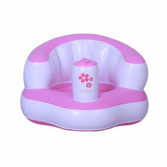 baby_kidsonline เก้าอี้หัดนั่งเป่าลม Baby Chair - สีชมพู