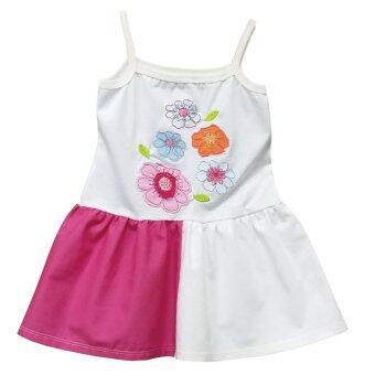 Princess Dress ชุดเดรสกระโปรง ปักลายดอกไม้
