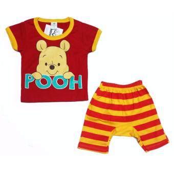 Disney Pooh เสื้อผ้าเด็กหมีเพูห์ เสื้อ+กางเกงก้นบาน - Size S M L - A1600