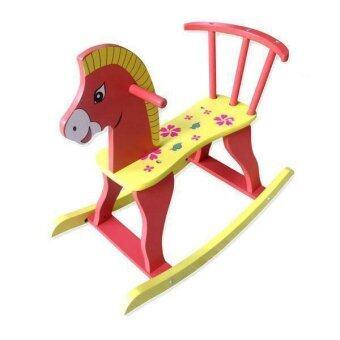 Toysplus ม้าโยกไม้ (สีแดง)