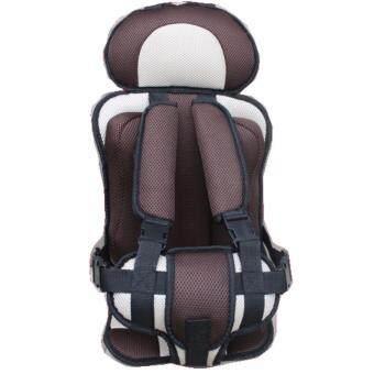 คาร์ซีทแบบพกพา (Child Car Seat) ที่นั่งในรถสำหรับเด็ก (สีครีม)
