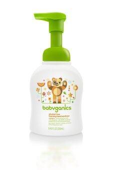 BabyGanics โฟมล้างมือสูตรไม่ต้องล้างน้ำออก กลิ่นส้มแมนดาริน ขนาด 250 มล.