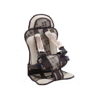 คาร์ซีทแบบพกพา (Child Car Seat) ที่นั่งในรถสำหรับเด็ก (สีครีม) (image 1)