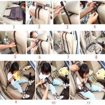 คาร์ซีทแบบพกพา (Child Car Seat) ที่นั่งในรถสำหรับเด็ก (สีครีม) (image 4)