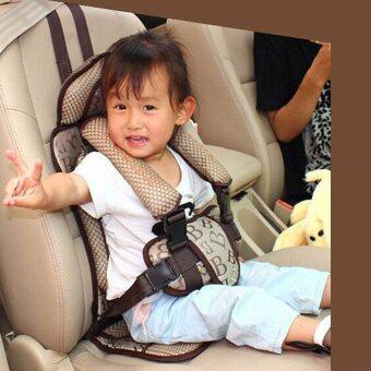 คาร์ซีทแบบพกพา (Child Car Seat) ที่นั่งในรถสำหรับเด็ก (สีครีม) (image 2)
