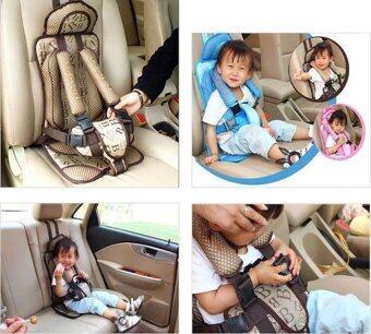 คาร์ซีทแบบพกพา (Child Car Seat) ที่นั่งในรถสำหรับเด็ก (สีครีม) (image 3)