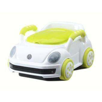 กระโถนนั่งเด็ก-รถสีขาว