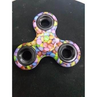 Fidget Spinner ลูกข่างมือหมุน finger gyro Tri-s Pinner ของเล่นอยู่ไม่สุข, รุ่นตัวลาย