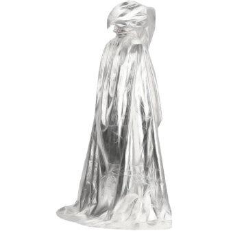 ซาตานแดร็กคิวล่าเสียชีวิตเสื้อคลุมของแวมไพร์วิกกายาวผ้าพันคอผ้าคลุมไหล่ hoodie สำหรับวันฮาโลวีนแต่งตัวชุดแฟนซีละครบทบาทยันเงิน