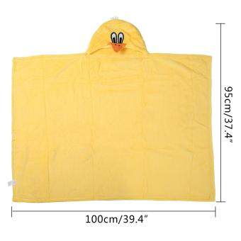 niceEshop 3D Duck Baby Infant Newborn Hooded Bath Towel Blankets (image 1)