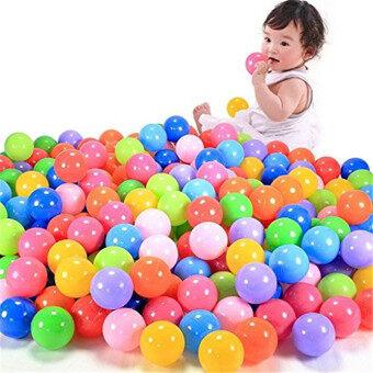 Babrit แพ็ค 100 Phthalate มีป่ามีบทรักบอลพลาสติก-6 สีใส