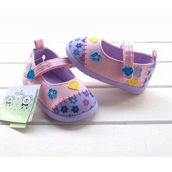 ((พื้นยางกันลื่น/น้ำหนักเบา)) รองเท้าเด็กวัยหัดเดิน รองเท้าเด็กผู้หญิงสีสันสดใส Size130