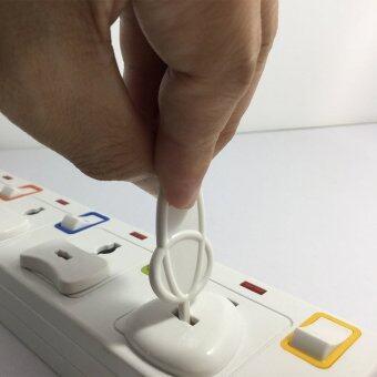 อุปกรณ์ป้องกันเด็ก ฝาปิดรูปลั๊กไฟ ตัวอุดรูปลั๊กไฟ กันเด็กแหย่ปลั๊กไฟ แบบ 3 รู 8 ชิ้น พร้อมตัวดึงออก (สีขาว) (image 3)