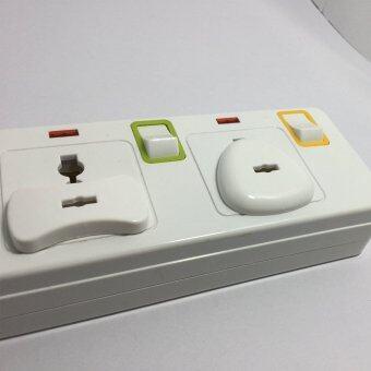 อุปกรณ์ป้องกันเด็ก ฝาปิดรูปลั๊กไฟ ตัวอุดรูปลั๊กไฟ กันเด็กแหย่ปลั๊กไฟ แบบ 3 รู 8 ชิ้น พร้อมตัวดึงออก (สีขาว) (image 2)