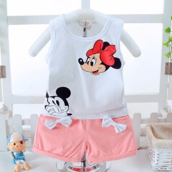 Harga Bear Fashion Baby Clothing Kids Summer Cartoon Girls Clothes 2pcs Set - intl