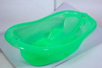 AMSTEPS อ่างอาบน้ำเด็กเล็ก รุ่นมีที่นั่ง สีเขียว