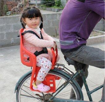 เบาะเสริมจักรยาน สำหรับเด็ก แบบติดตั้งด้านหลัง (สีแดง) (image 2)