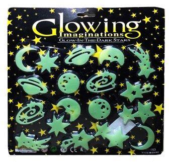 แผ่นติดผนังหรือเพดานเรืองแสงสำหรับเด็ก หมู่ดาวแห่งจักรวาล Glow in the Dark sticker for kids Star in the Universe